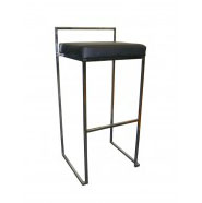 Padded Bar Stool - Black