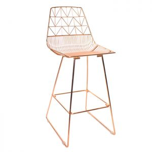 Arrow Bar Stool - Rose Gold
