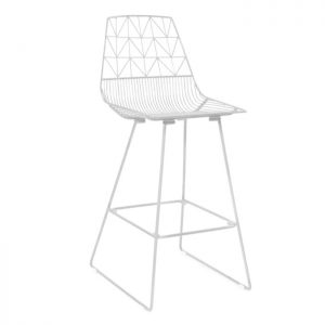 Arrow Bar Stool - White