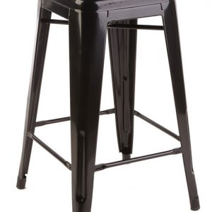 Tall Tolix Stool - Black