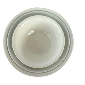 Large Ceramic Salad Bowl - White