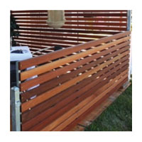 Timber Slat Fence