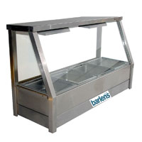 Bain Marie 6 Dish Glass Front