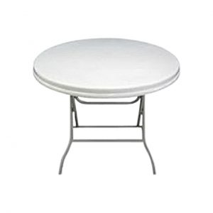 0.94m Round Outdoor Table - White