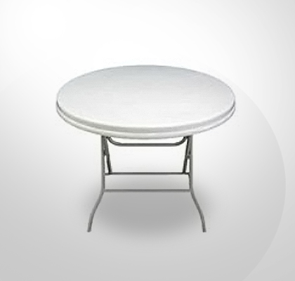 0.94m White Round Outdoor Table