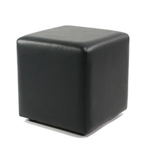 Ottoman Cube - Black