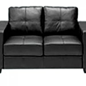 Cushioned 2 Seater Lounge - Black