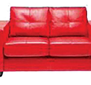 Cushioned 2 Seater Lounge - Red