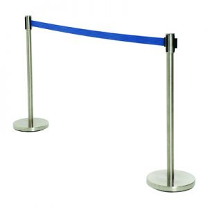 Retractable Tape Barrier - Blue