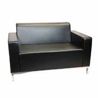 2 Seater Lounge - Black