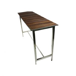 Wooden Slat Bar Table