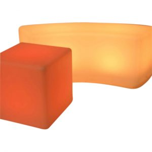 Curved Glow Bench - colour changing