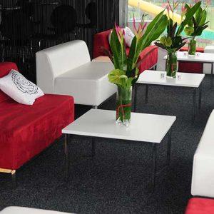 Ottoman Lounge - White