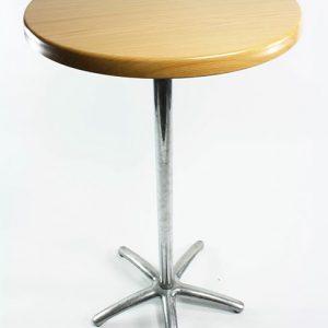 Tall Round Bar Table -Beech