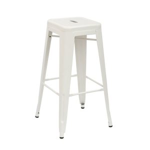 Tall Tolix Stool - White