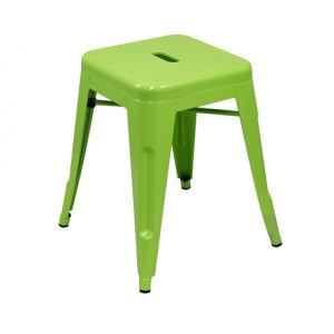 Low Tolix Stool -  Lime Green