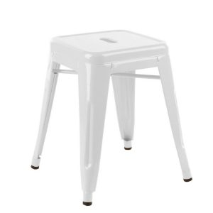 Low Tolix Stool - White