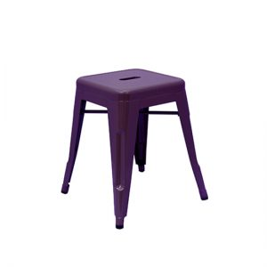 Low Tolix Stool -  Purple