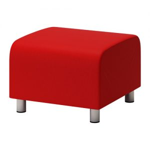 Studio Ottoman - Red/Orange