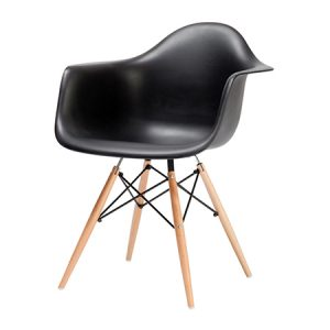 Eddie-T Armchair - Black & Beech
