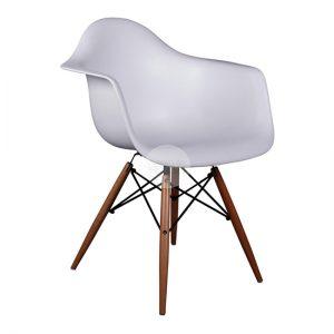Eddie-T Armchair - White & Beech