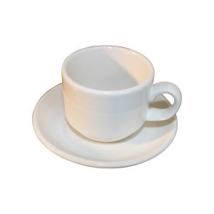 Espresso Cup and Saucer - White