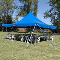 Blue Party Canopy - 6m