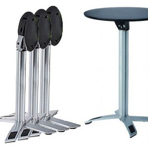 Round Folding Bar Table - Black