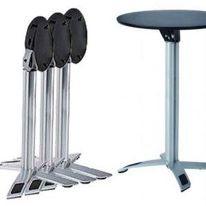 Round Folding Bar Table - Black