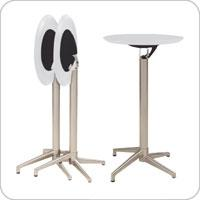 Round Folding Bar Table - White