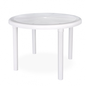 0.96m White Sorrento Round Outdoor Table