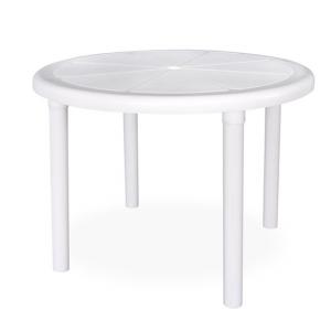 0.96m White Sorrento Round Outdoor Table