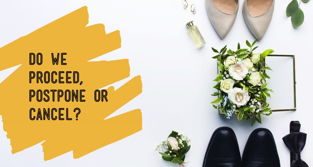 What to Do If Your Wedding is Due to Take Place During the COVID-19 Outbreak